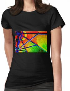 rainbow distraction  Womens Fitted T-Shirt