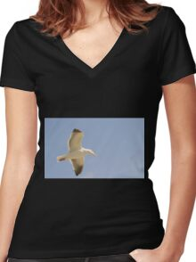Seagull Women's Fitted V-Neck T-Shirt