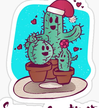 Cactus Holiday Party Sticker