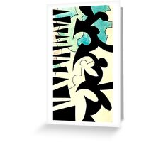 Puzzle Lines Greeting Card