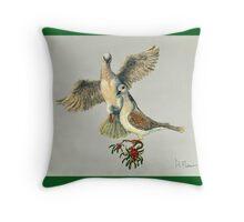 Two Turtle Doves Throw Pillow