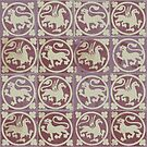 Lion and Griffin tiles by Aakheperure
