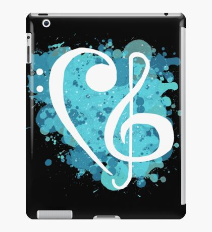 Treble & Bass Cleff splatter design iPad Case/Skin