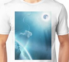 Astronaut Floating in Space Unisex T-Shirt