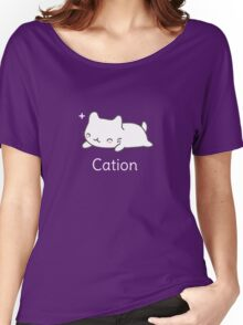 Funny Cat T-shirt for Science Lovers  Women's Relaxed Fit T-Shirt