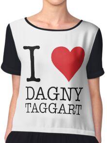 I Heart Dagny Taggart Chiffon Top