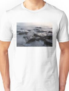Rough and Soft - Smoky Waves and Rocks on the Beach  Unisex T-Shirt