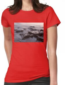 Rough and Soft - Smoky Waves and Rocks on the Beach  Womens Fitted T-Shirt