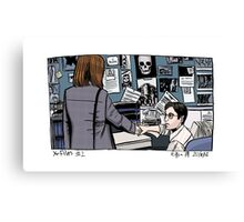 X-Files - Scully and Mulder Canvas Print