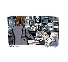 X-Files - Scully and Mulder Photographic Print