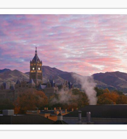 Sunrise in Salt Lake Sticker