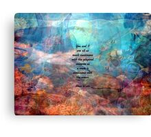 You And I Inspirational Togetherness Quote With Beautiful Underwater Painting  Canvas Print