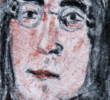 John Lennon Charcoal Drawing Sticker