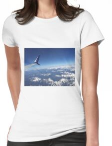Out the Plane Window Womens Fitted T-Shirt
