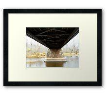 Covered Bridge from below Framed Print