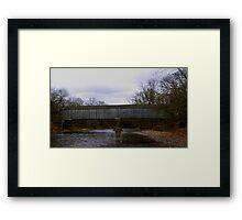 Covered Bridge at Tyler Framed Print
