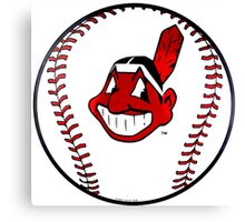MASKOT CLEVELAND INDIANS - BASEBALL TOP ART Canvas Print