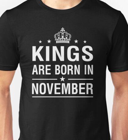 Kings Are Born In November Unisex T-Shirt