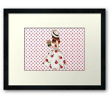 Cherry dress Framed Print