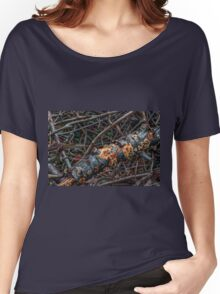 Rotten Trunk With Mushrooms Women's Relaxed Fit T-Shirt