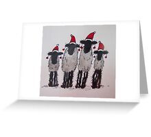 Christmas Sheep Greeting Card