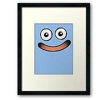Huggable Slime Smile Framed Print