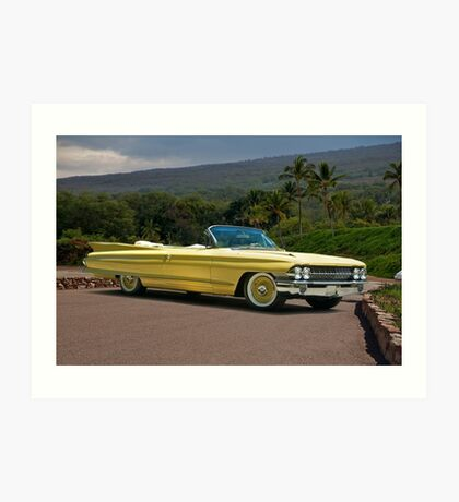 1961 Cadillac Series 62 Convertible Art Print