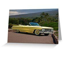1961 Cadillac Series 62 Convertible Greeting Card