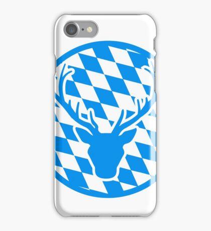 hirsch geweih hörner oktoberfest text schriftzug shirt cool design  iPhone Case/Skin