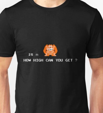 Donkey Kong – How High Can You Get? Unisex T-Shirt