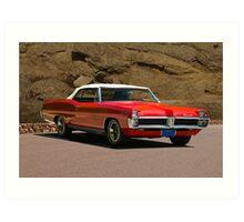 1967 Pontiac Bonneville Convertible Art Print