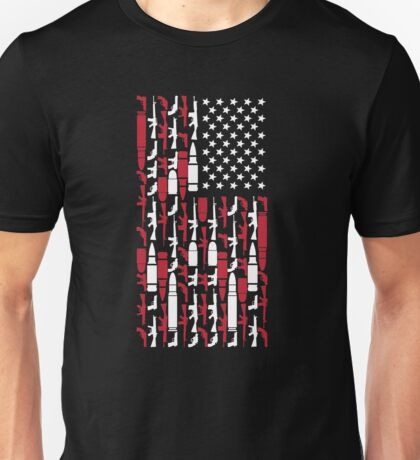 Never Disarm America Gun T-Shirt Right To Bear Arms USA Tee Unisex T-Shirt