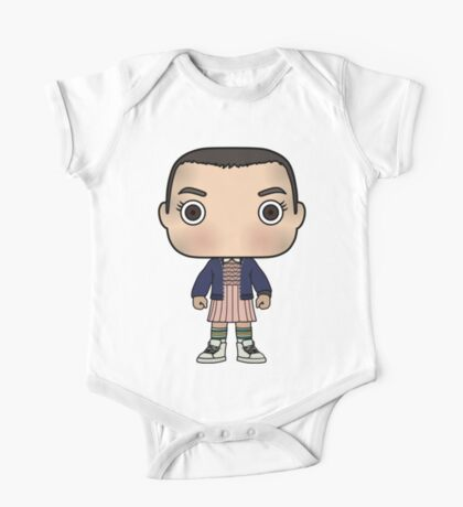 Stranger Things Eleven (Cartoon) One Piece - Short Sleeve