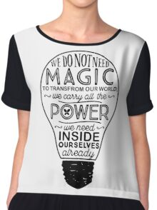 Official Lumos Be the Light T-shirt Chiffon Top