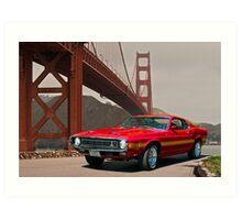 1971 Mustang Cobra GT500 Art Print