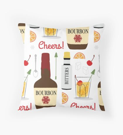 Cheers! Here's to an Old Fashioned Christmas Throw Pillow