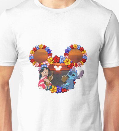 lilo and stitch sunset Unisex T-Shirt