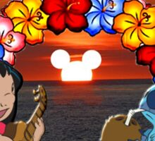 lilo and stitch sunset Sticker