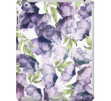 Watercolor + Ink Florals #redbubble #lifestyle iPad Case/Skin