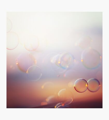 Tranquil background with bubbles Photographic Print