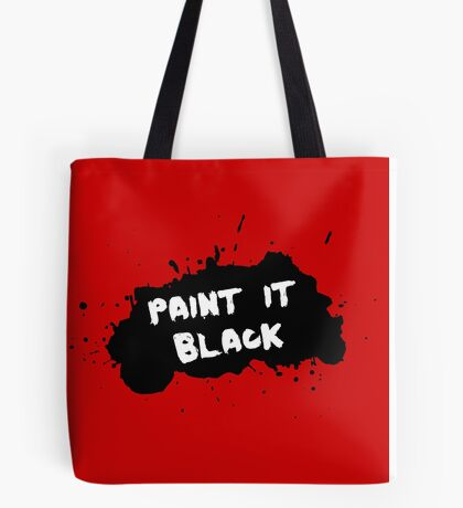 The Rolling Stones - Paint it Black Tote Bag