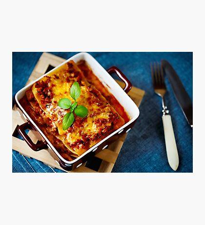 Italian Food. Hot tasty Lasagna. Photographic Print
