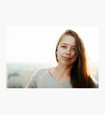 Young stylish woman in the sunlight Photographic Print