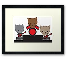Kitty Cat Kawaii Band Framed Print
