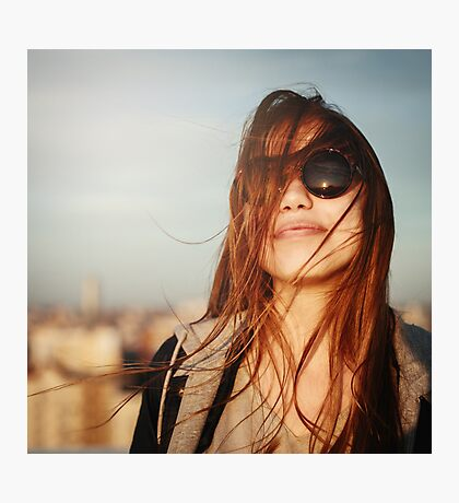 Fashion portrait of young woman in sunglasses Photographic Print