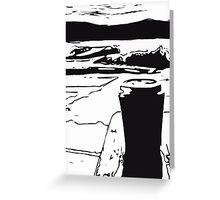 Coffee by the Lake Greeting Card
