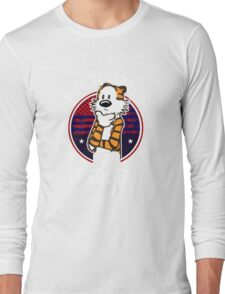 Calvin And Hobbes Camera Pose Long Sleeve T-Shirt