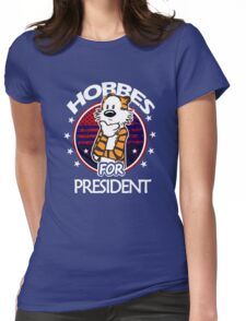 Calvin And Hobbes Camera Pose Womens Fitted T-Shirt