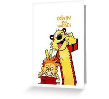 Calvin And Hobbes Camera Pose Greeting Card