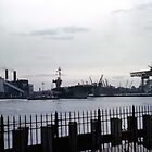 Brooklyn Navy Yard - USS Independence by John Schneider